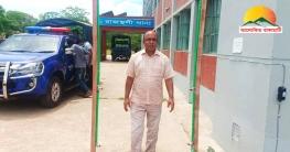 করোনা প্রতিরোধে রাজস্থলী থানার সামনে কীটনাশক স্প্রে মেশিন স্থাপন