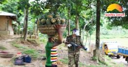 সেনাবাহিনীর সহযোগীতায় উৎপাদিত ফসলের ন্যায্য দাম পেলো কৃষক