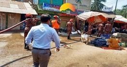 রাঙামাটির সড়কে জাবীণুনাশক স্প্রে করলো জেলা প্রশাসন