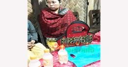 কাউখালীতে চোলাই মদসহ নারী আটক
