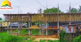 আসামবস্তীতে কাপ্তাই হ্রদ দখল করে নির্মিত হচ্ছে ৩ তলা বাড়ি
